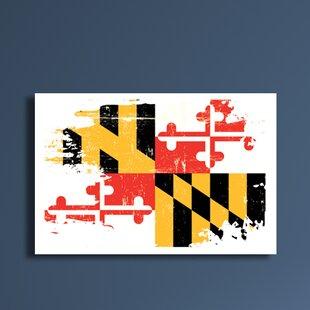 Well known Maryland Flag Wall Art | Wayfair EM82