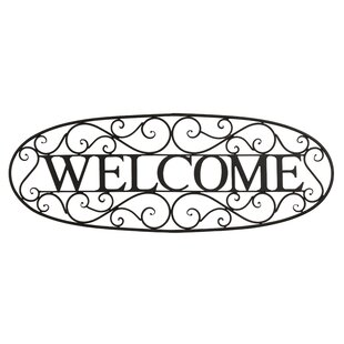 Welcome Sign Wrought Iron Wall Décor
