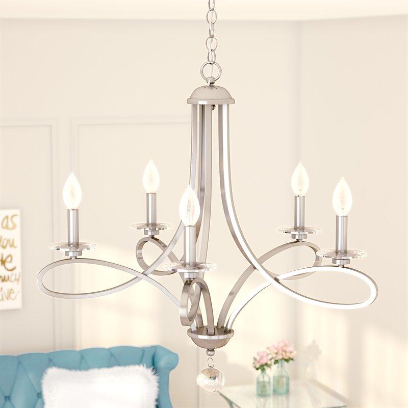 Willa arlo interiors berger 5 light chandelier reviews wayfair berger 5 light chandelier mozeypictures Choice Image