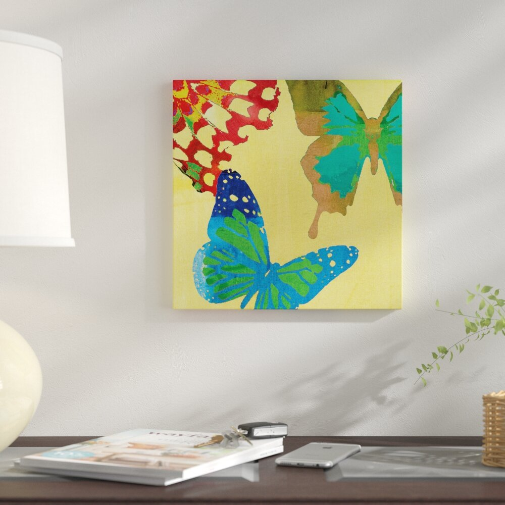 East Urban Home \'Saturated Butterflies III\' Graphic Art Print on ...