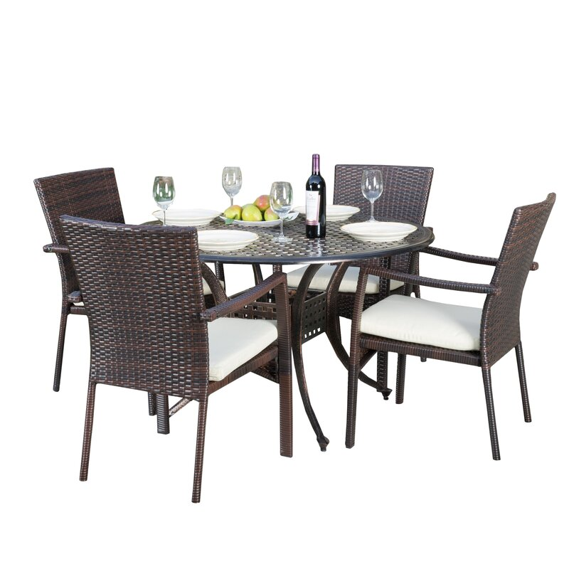Exceptionnel Hayden Outdoor 5 Piece Dining Set With Cushions
