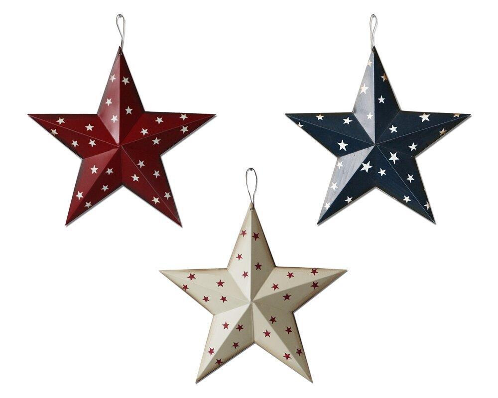 Charming Americana Patriotic Barn 3D Stars Wall Décor Part 32