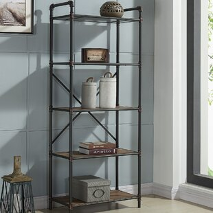 5 Tier Metal Pipe Etagere Bookcase & Industrial Pipe Bookcase | Wayfair