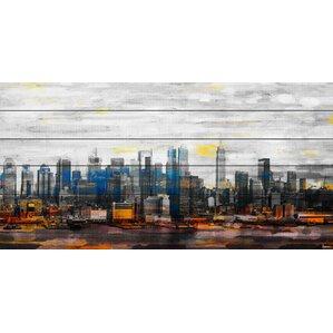 u0027new york colorsu0027 by parvez taj painting print on white wood u0027