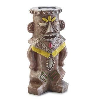Moonrays Tiki Warrior Light Statue | Wayfair