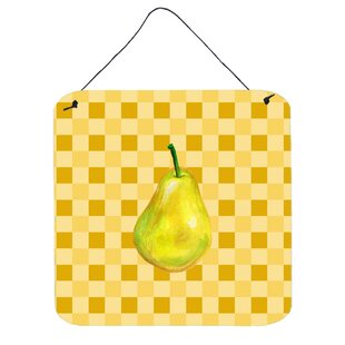 Whole Pear On Basketweave Wall Décor