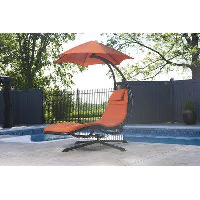 Ebern Designs Maglione 360 degrees Chair Hammock  Color: Orange Zest