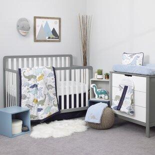 Dreamer Little Dinosaurs 8 Piece Crib Bedding Set