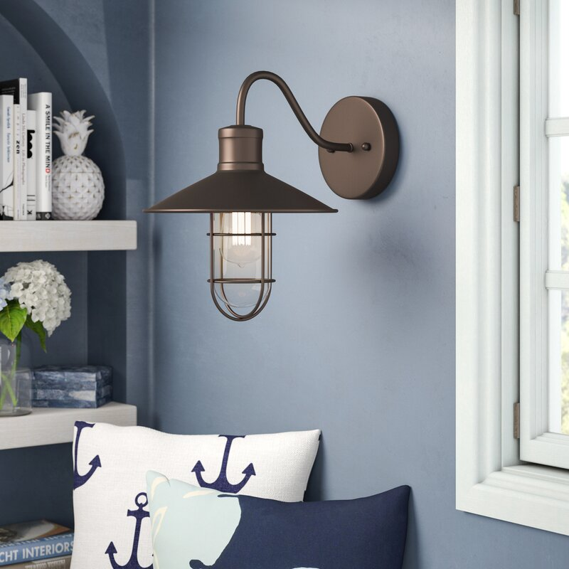 Beachcrest Home Gotha 3 Light Vanity Light Reviews: Beachcrest Home Armona 1-Light Barn Light & Reviews