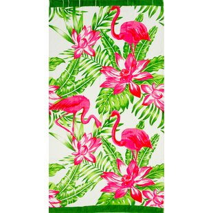 Stanfill Tropical Flamingo 100 Cotton Beach Towel