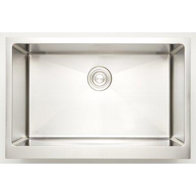 "25"" X 18"" Undermount Kitchen Sink American Imaginations Faucet Drillings: Deck Mount"