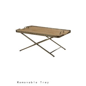 Tyrrel Coffee Table with Tray Top by Gracie ..