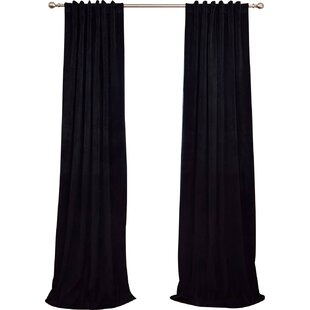 Albert Velvet Solid Blackout Thermal Rod Pocket Single Curtain Panel