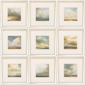 9-Piece Atmosphere Framed Painting Print Set