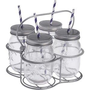 5 piece mason drinking jar set - Mason Jar Drinking Glasses