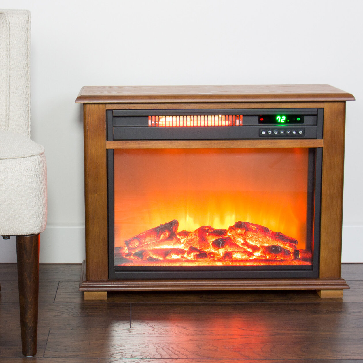 Millwood Pines Dempsey Portable Electric Fireplace Wayfair