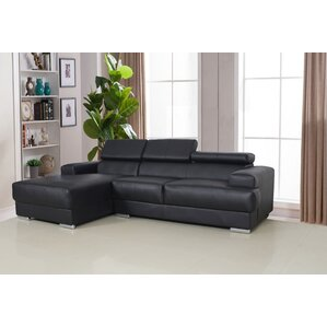 Rainbeau Reclining Sectional  sc 1 st  AllModern : black leather sectional with chaise - Sectionals, Sofas & Couches
