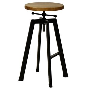 Adjustable Height Swivel Bar Stool by New Pacific Direct