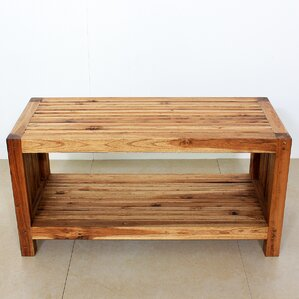 Teak Slat Coffee Table by Strata Furniture