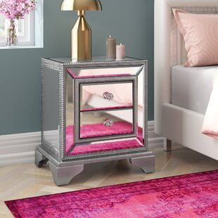 Sofia 2 Drawer Bedside Table