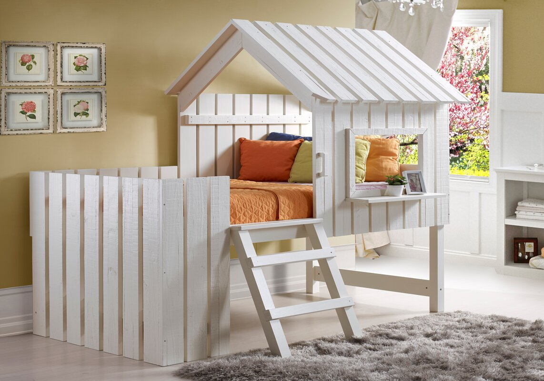 donco kids cabana twin low loft bed  reviews  wayfair - defaultname