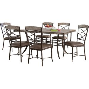 Luxton 7 Piece Dining Set by Loon Peak