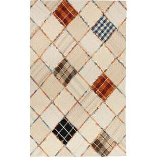Biggs Handmade Kilim Wool Beige Rug by Metro Lane