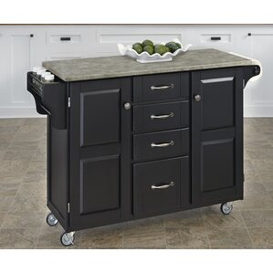 Create-a-Cart Kitchen Island with Concret..