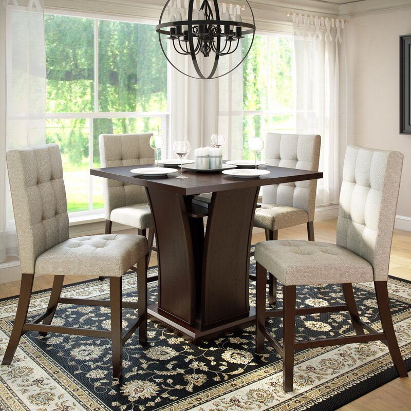 Counter Dining Room Sets: Red Barrel Studio Burgess 5 Piece Counter Height Dining