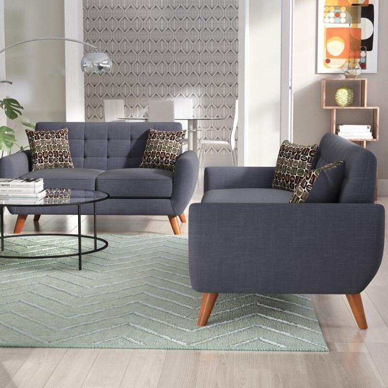 Langley Street Wooten 2 Piece Living Room Set & Reviews