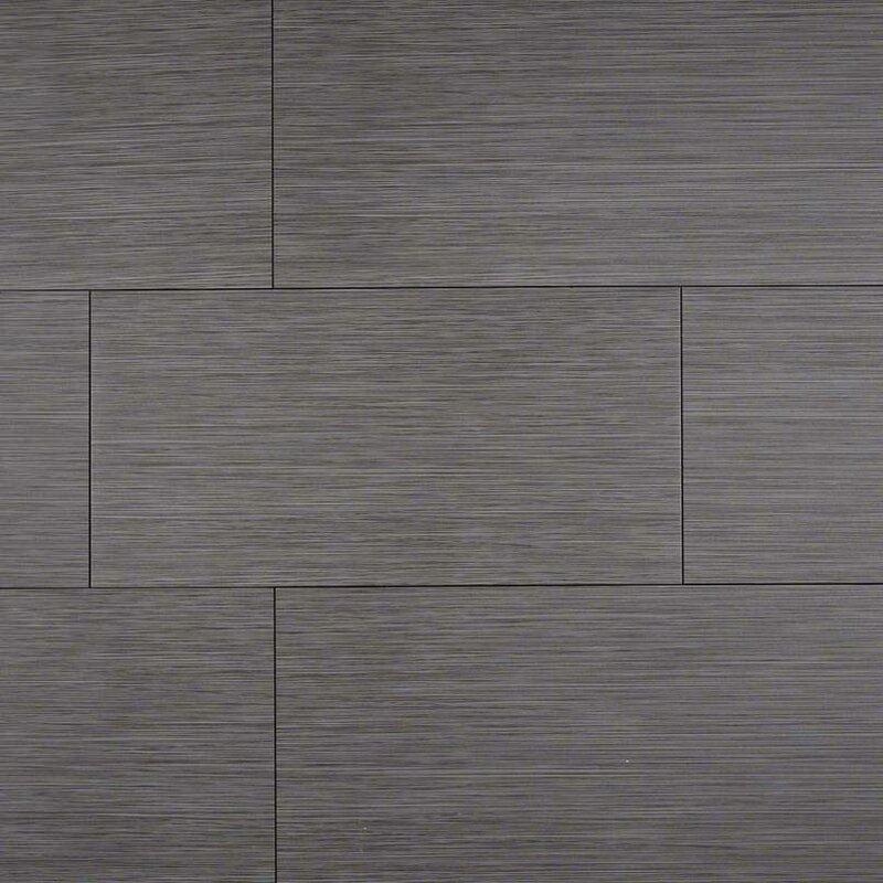 Focus Graphite 12 X 24 Porcelain Wood Look Field Tile In Gray