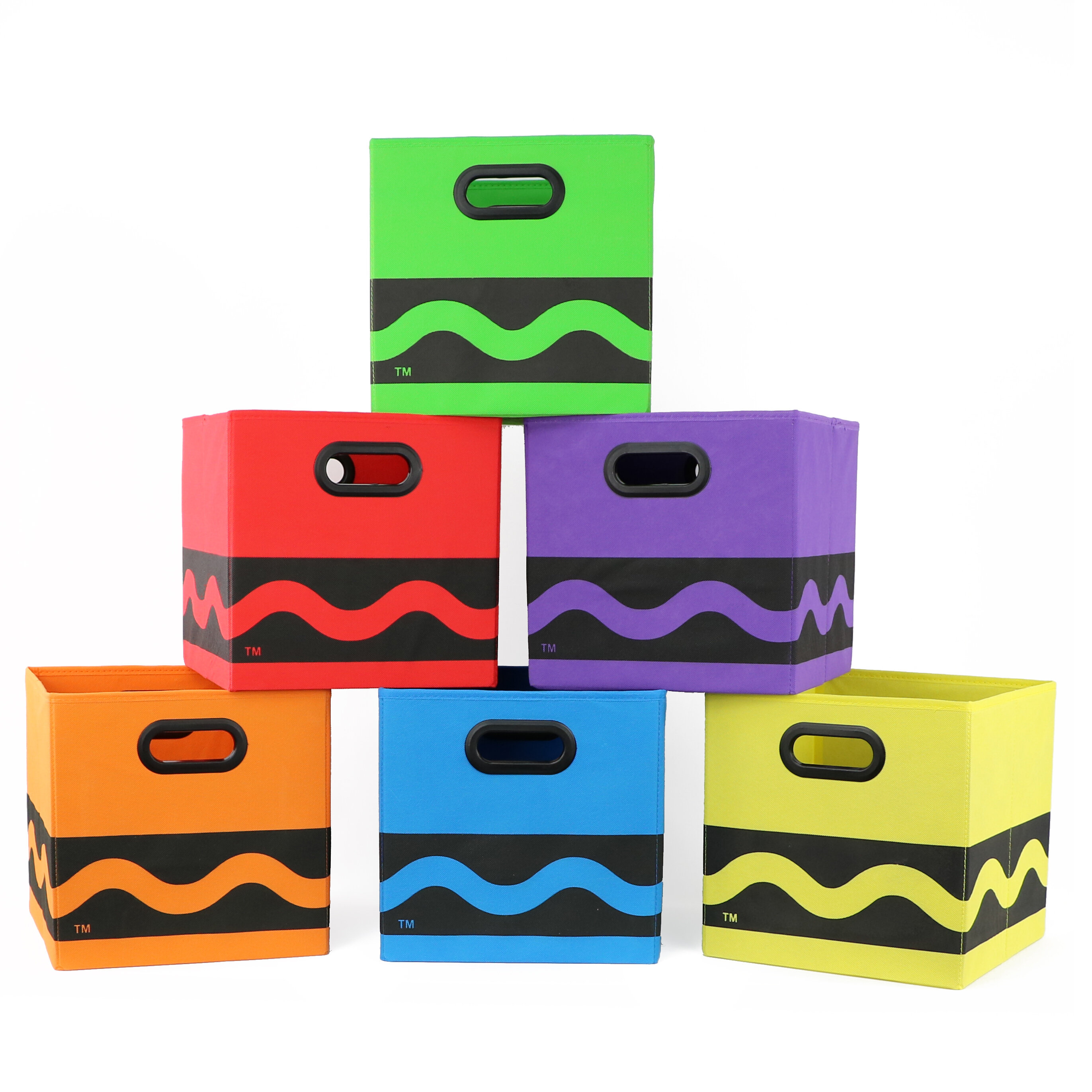 Zoomie Kids Black Serpentine 6 Piece Bundle Storage Bin Set U0026 Reviews |  Wayfair