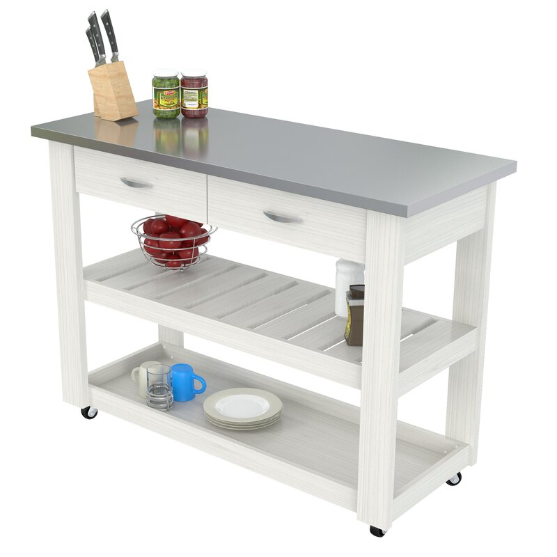 with table cart stainless prep utility kitchen rolling brilliant of ideas steel