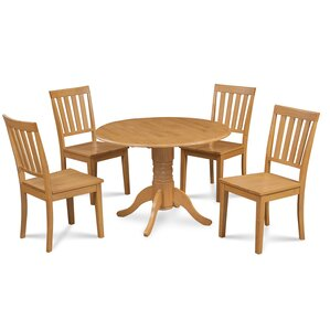 Chesterton Transitional 5 Piece Wood Dining Set by Alcott Hill