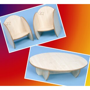 Children's 3 Piece Round Table and Chair Set by Twoey Toys