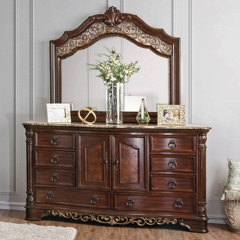 Caulfield 8 Drawer Dresser With Mirror