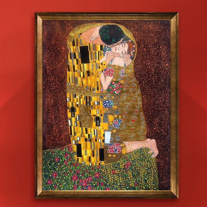 La Pastiche \'The Kiss\' by Gustav Klimt Framed Painting Print on ...