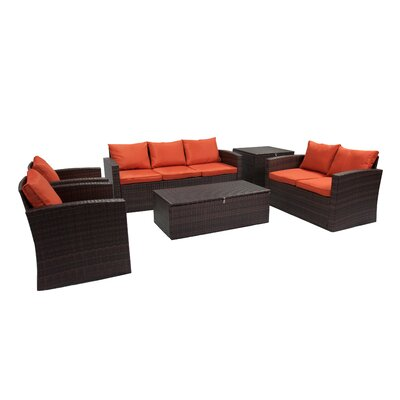 Arlington 6 Piece Sofa Set With Cushions Reviews Allmodern