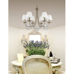 Bilger 6 Light Shaded Chandelier