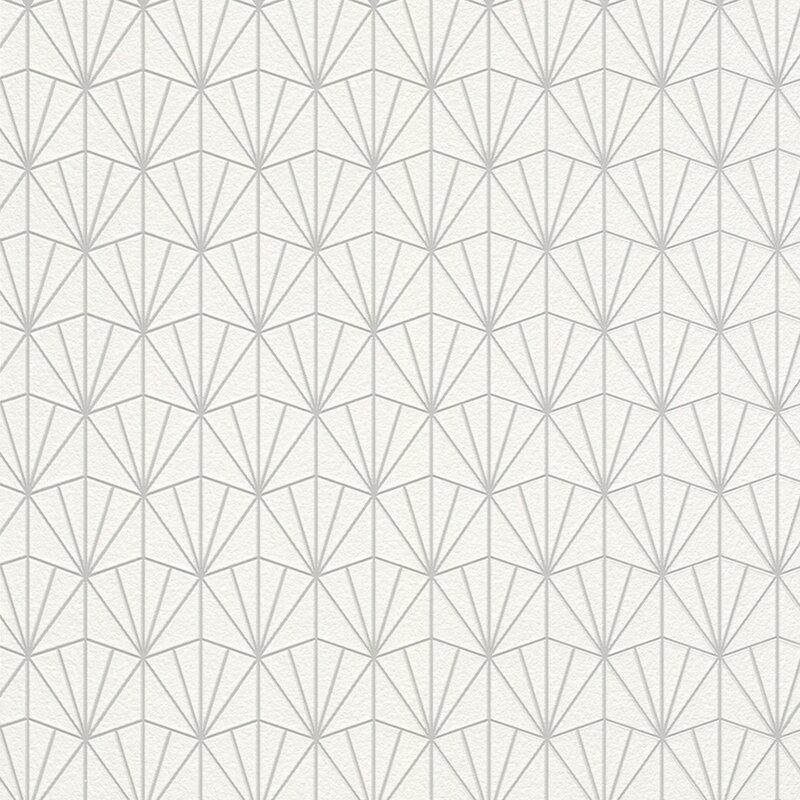 Modern 33 x 20 8 geometric fan wallpaper roll