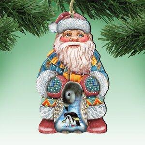 Deco Loving Embrace Santa Hanging Figurine (Set of 3)