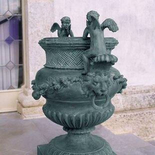 The Duval Double Cherub Lost Wax Garden Urn By Design Toscano
