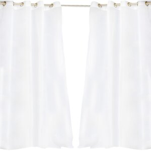 Odessa Solid Semi-Sheer Outdoor Grommet Single Curtain Panel