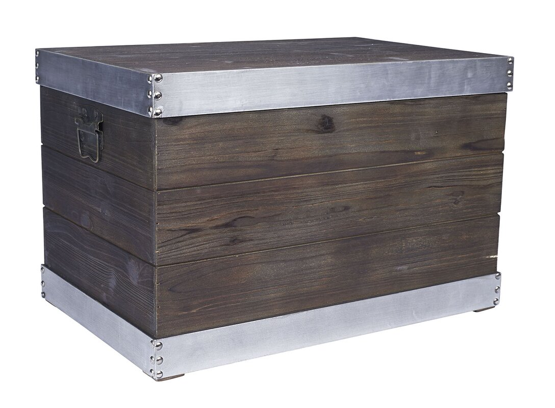 Awesome Large Trim Wooden Storage Trunk