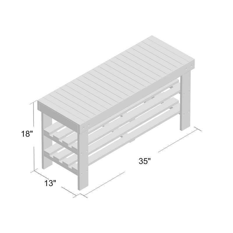 Large Storage Bench For Outdoor And Indoor Space Theiss Wood Storage Bench