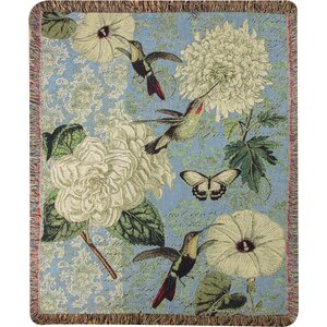 Hummingbird Flutter Tapestry Cotton Throw
