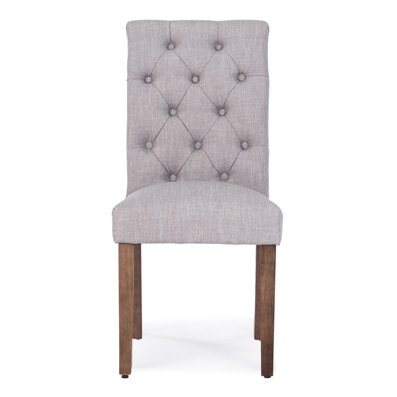 ophelia co odelina button tufted upholstered dining chair reviews. Black Bedroom Furniture Sets. Home Design Ideas