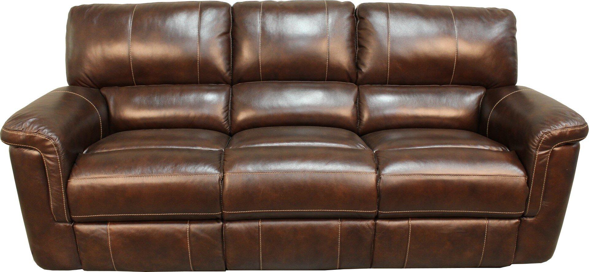 Red Barrel Studio Blair Dual Leather Reclining Sofa