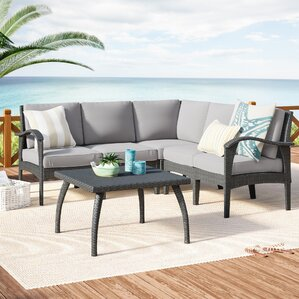 Townsend V-Shape 6 Piece Sectional Seating Group with Cushion : townsend sectional - Sectionals, Sofas & Couches