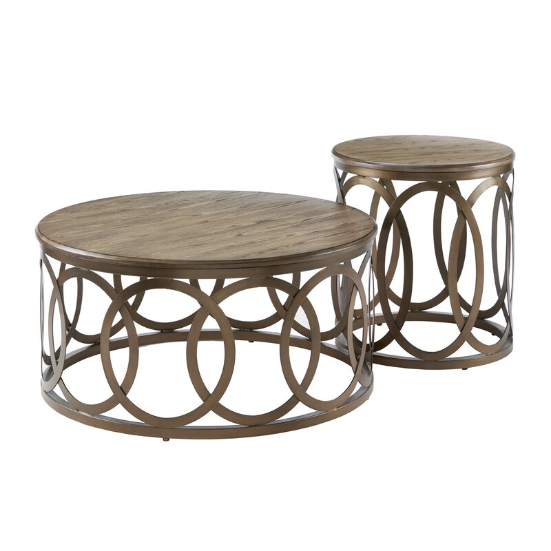Round Coffee Table Set Of 2: Ivy Bronx Bleich Round 2 Piece Coffee Table Set & Reviews